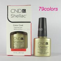 Free Shipping 2014 New arrival Fashion colors CND Shellac Soak off UV LED Nail Gel Polish 47pcs/lot Total 79colors!