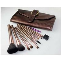 NEW! 2014 fashion MA brand 13 pcs makeup cosmetic brown brush set,make up brushes set free shipping