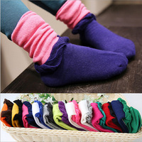 10pairs/lot girls knee high socks cotton kids casual socks winter child boot socks 4-8years free shipping