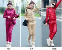 Korean version of the sport cotton sweater vest three-piece