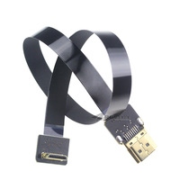 Z15 30cm 50cm Black Wire Super Soft Ultra-light Switch Wiring Shielded HDMI to Mini Cable for FPV