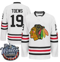 Chicago Blackhawks 2015 Winter Classic #19 Jonathan Toews Ice Hockey Jersey  White Winter Classic Toews M-XXXL