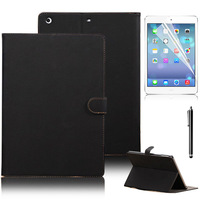 3 in 1 Retro PU Leather case for ipad air with Stand function Buckle smart cover for ipad 5 + Screen protector Free Shipping