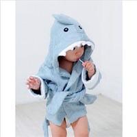 2014 New House Keeping Baby Girl Boy Child Cartoon Crocodile Style Hooded Robes Bathrobe Sleepwear C3