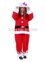 Halloween Santa Claus Kitty Cat Cosplay Costume Fleece Onepiece Animal Pajamas Fantasia Christmas Dress Anime Onesie for Adults