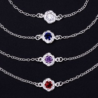 2015 New Arrival Fashion Accessories Foot Jewelry 925 Silver Lovely Red Charm Anklets Nice Gift For Women Ankle Bracelet