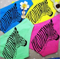 Young Ladies VS/Pink Zebra Panties Girl's Low waist Cotton Briefs 5pcs/lot