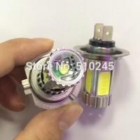 10X 2014 NEW arrival H7 high power 25W 4 COB+ 1PCS 5W CREE DC12V LED Lamp car Head fog Bulb auto Lights free shipping