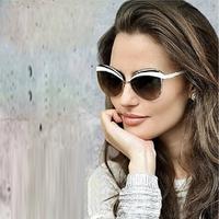Fashion Sunglasses Women Brand Designer Sun Glasses Clubmaster Gafas De Sol Women Cat Eye Vintage Oculos De Sol Feminino CD002