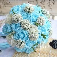 Free Shipping Wedding Bouquets Flower Bouquet Holder Handle Wedding Accessories Bridal Bouquets Bridesmaid Flower 26-28CM WB-24B