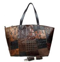 Vintage Crocodile Casual 100% Top Genuine Leather Cowhide Women Tote Handbag Shoulder Messenger Cross Body Bag Bags For Ladies