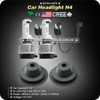 2014 New H4 TOP USA CREE LED BULB Hi/LO Beam Auto Headlight Kit 4800 lumens 40W Car LIGHT KIT 6000k
