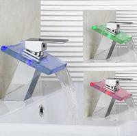 Favor Xp New Hot Sale LED RGB Lighting Bathroom Faucet Restroom Sink Glass Basin Faucet Mixer Tap