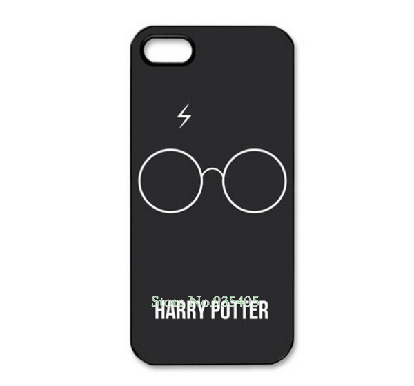 Dirt Shock Proof Harry Potter Glass White Design Black Skin Hard Plastic Mobile Protective Phone Case Cover For Iphone 5 5S(China (Mainland))