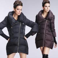 2014 Assymetric Zipper Casual Down Puffer Coat Plus Size Loose Maternity Down Jacket Women Winter Coat Women Winter Jacket H041