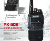 Puxing walkie talkie PX-508 IP67 Dustproof  Waterproof  Professional FM transceiver  VHF 136-174MHz with 1300mAh Li-ion Battery