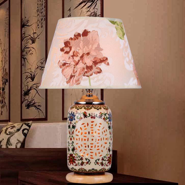 Ceramic led desk lamp table lamp minimalist bedroom bedside porcelain table lamps for bedroom factory direct wholesale(China (Mainland))