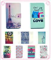 Eiffel Tower Flip leather Wallet Stand cover case For Huawei Ascend y530 flip case with Card holder , Free Shipping