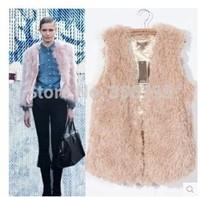Free Shipping Autumn and Winter Ladies New waistcoat jacketoutside take winter fur all-match cardigan velvet vest