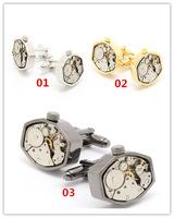 Fashion cufflinks Octagon movement watch cufflinks
