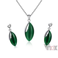 Fashion  Green  Wedding Jewelry Sets for Women Party Jewelry Sets For Women  New Items  Necklace With Earrings