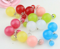 Wholesale Double Pearl Earrings Multicolor Stud Earrings for Women Antiallergic Hight Quality Hot Sale Free Shipping