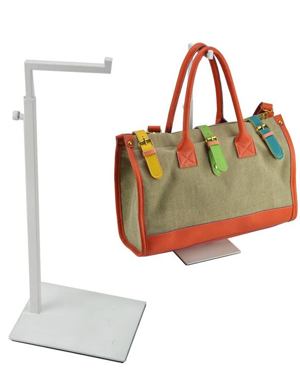Adjustable Height Metal Handbag&Bag Display Stand White Women Handbag &Purse Display Rack Holder Stand AF-0109(China (Mainland))
