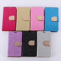 High quality Luxury Glitter Diamond PU leather Wallet Case for Samsung Galaxy Note II N7100