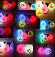 "Free shipping 40pcs/lot Led Balloon""I Love You"",christmas balloons,christmas,Wedding,Birthday,Party Decoration light up balloons"