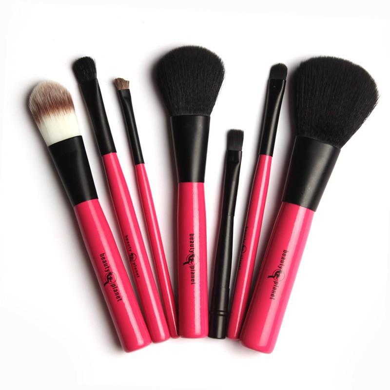 2014 Hot Professional Goat Hair 7Pcs Makeup Brush Set Tools Cosmetic Make Up Brush Set