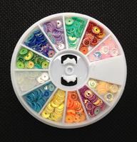 Sparkle Twist Shapes Rainbow 12 Colors Nail Art Acrylic UV Gel Tips Deco