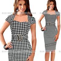 Autumn fashion hot-selling square collar slim hip ol slim one-piece dress ebay