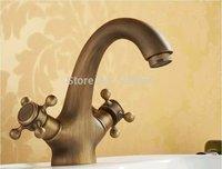 Free Shipping 2014 New Luxury Fashion Solid Brass body Deck Mounted Bathroom basin Faucet Single Handle GF 8022