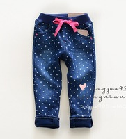 Kids jeans,children pants,girls jeans,skinny,pencil pants,kids winter jeans, children warm pants, thick jeans print with stars