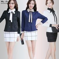 Free Shipping Plus Size Formal Shirt Long Sleeve Office Ladies Shirts Elegant Women Tops Fashion Slim Female Chiffon Blouse 2140