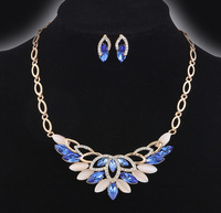 free shipping  ! Rhinestone  Pendants & Necklaces Jewelry set   short necklace and earring For Women  F143