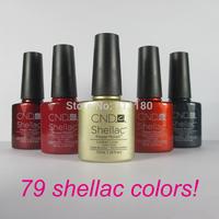 Free Shipping 2014 New arrival Fashion colors CND Shellac Soak off UV LED Nail Gel Polish 12pcs/lot Total 79colors!
