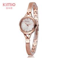 2015 Luxury Brand KIMIO Bracelet Watch Women Dress  Watch Quartz Analog Flower Solid Ladies Wristwatch Dropship