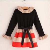 Girls stripe dress ,  girls dresses ,5pcs/lot   CHX01