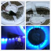 5M DC12V 3528 SMD 300led UVA Ultraviolet Purple Color LED Strip Light Non-waterproof Indoor Flexible Black Light Night Fishing