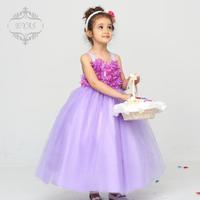 Flower girl dress child girl snow white princess dress wedding dress children Princess pettiskirt