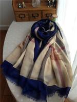 The new European and American ladies scarves 180cm*130cm British wind plaid soft cotton shawl / unisex models   scarf shawl