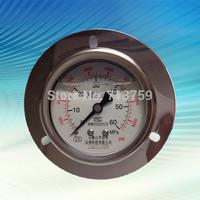 YN-60ZT SS Pressure Gauge Meter Manometer Back connection with Flange Border 0-60MPa / 0-8000PSI