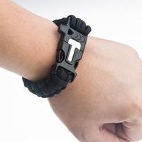 free shipping  Whistle and Little Knife for Outdoor Living Survival Kit Military Bracelet Fire  Emergency Whistle&Fire Starter