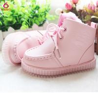 Retail 1 pcs 2014 New Child Warm Girls Boots Fashion Short Snow Boots Children Shoes Kids 2 Colors Size 6-12.5 AB518