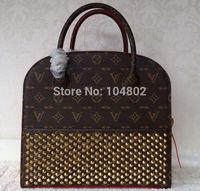 Newest Hot Sale Original Top Mongram Studded Shopping Bag Top Grade Original Mono Canvas With Studs Tote Mongram ChristLoubo Bag