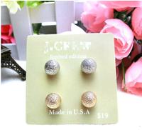 2014 Hotselling Wholesale JC Fashion gold Stud Earrings Set Include 4 Pieces Earrings Fashion Korean Jewelry for women,B123
