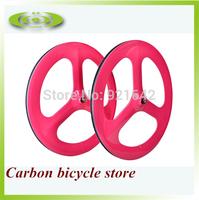 1 pair of 700c best 3 spoke wheel clincher, full carbon fiber tri spoke wheel,glossy or matte surface