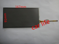 7 inch 167*91mm 4 pin modified 8 pin black Reduce reflective glass touch screen panel for prius camry car DVD player navigation