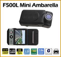 Ambarella Mini CAR DVR F500L 1080P HD Camera 140degree Lens 1.5inch TFT with Motion Detection G-sensor